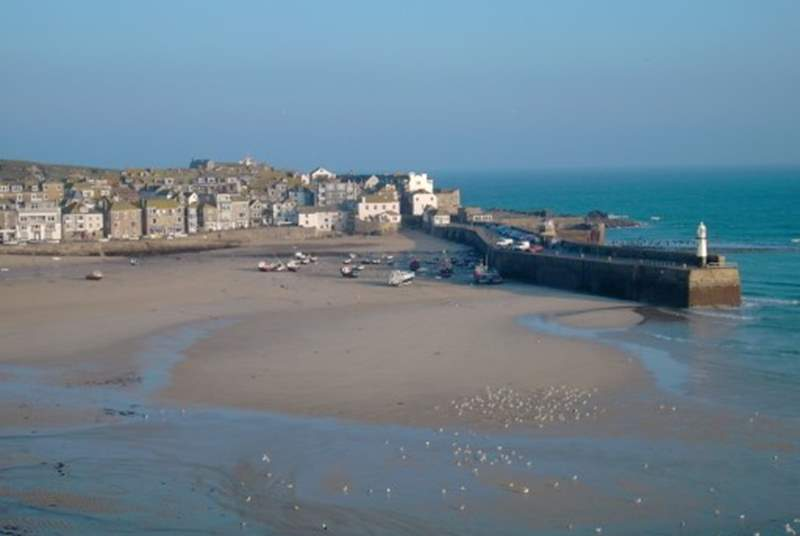St Ives at low tide.