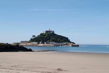 St Michael's Mount at Marazion, on the south coast, is just a short drive away.