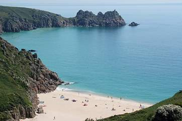 Porthcurno Beach and the Minack Theatre are approximately ten miles away.