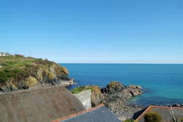 The stunning view from one of the terraces in the garden.