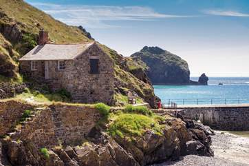 Pretty Mullion Cove is a short drive away.