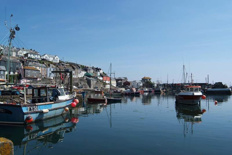 Mevagissey is a quintessential working fishing harbour.