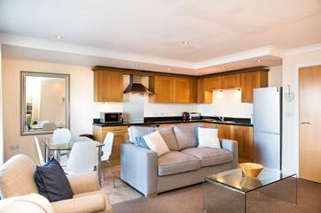 The open plan living area will ensure you can enjoy time together