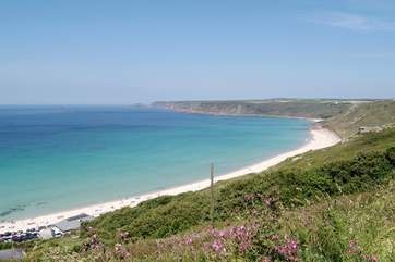 Sennen Cove is approximately six miles distant.
