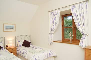The twin bedroom is another generously-sized bedroom to choose from.  This property has extremely flexible accommodation.