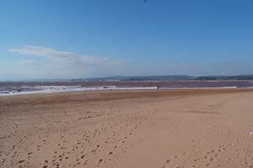 Exmouth is the closest sandy beach - miles and miles of sand and views far along the South Devon coast to the West.