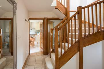 This photo gives you a sense of what a spacious family holiday home this is.