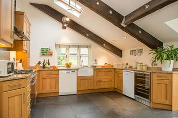 This is a fabulous kitchen area with granite worktops and butler's sink