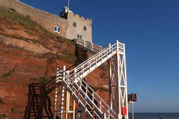 This is the unique Jacob's Ladder at Sidmouth.