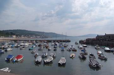 The famous Cobb and harbour at Lyme Regis.