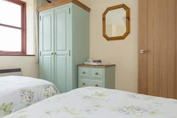Both bedrooms have plenty of storage space.