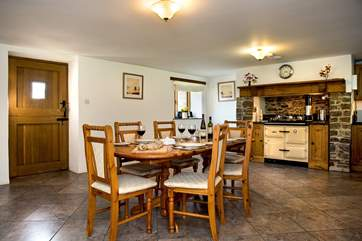 The lovely kitchen dining room will make for sociable mealtimes