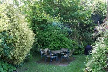 The sitting-area in the garden.