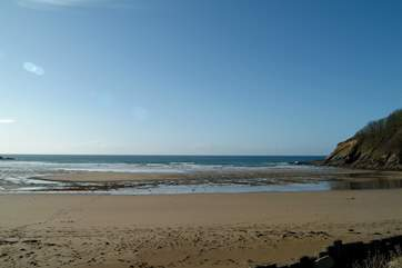 Caerhays (Porthluney) beach is a five minute drive away.