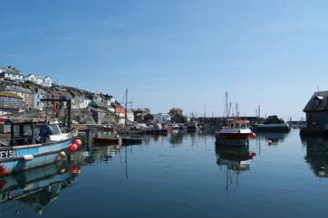 Fishing boats in Mevagissey harbour.