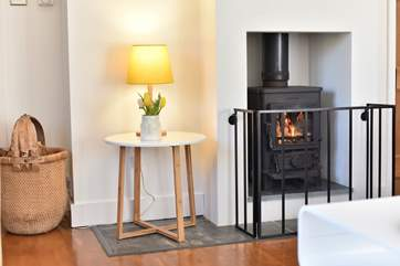 Keep warm in front of a roaring wood-burner.