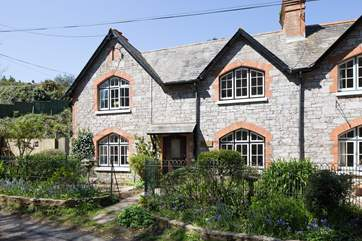 The front of this lovely semi-detached cottage.