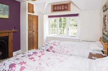 Bedroom 3 is a twin room.