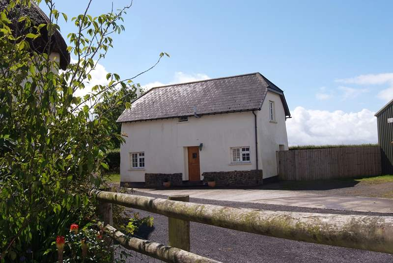 Cherryblossom Cottage sits at the edge of the farmyard and has a private rear garden.
