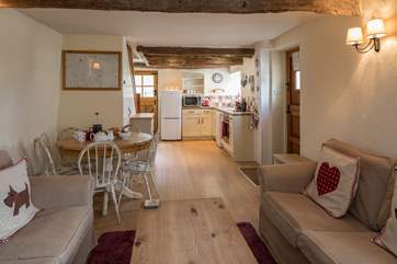 The cottage offers a lovely open plan design.