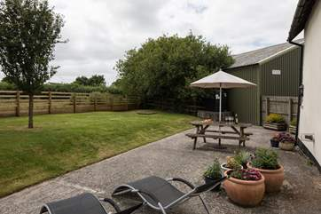 The private garden is the perfect to place to slink back and relax.