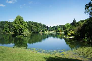 The lake at National Trust Stourhead is a beautiful place to spend a day.