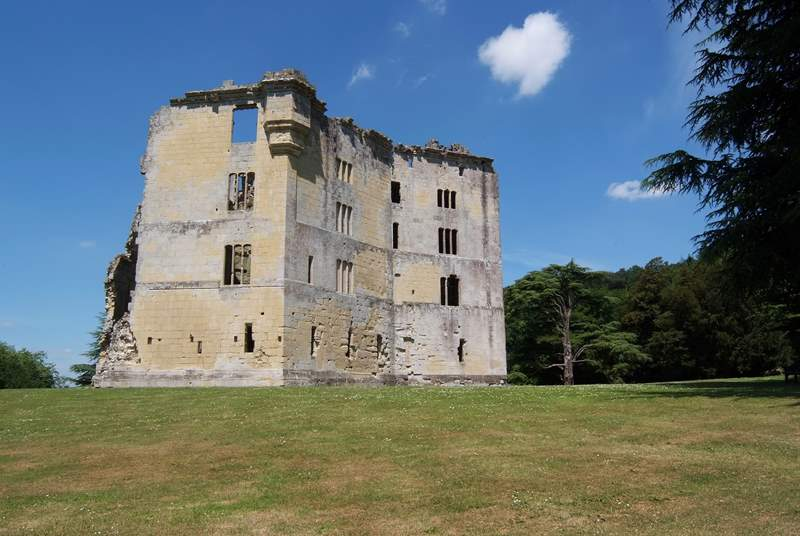 Explore the ruins at Wardour Castle - there are fantastic views from the top