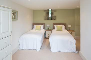 The family bedroom can be made up as a double and there is an additional bed for a child.
