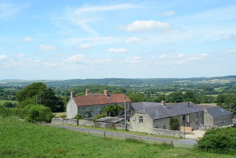 Hatts Farm nestles into the hillside amid the stunning countryside on the Dorset/Wiltshire border.