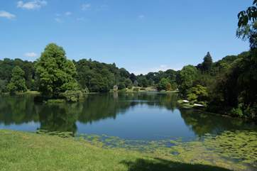 You can easily spend a whole day at the National Trust's Stourhead Gardens.