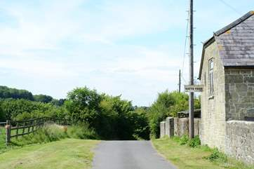 Hatts Farm is situated on a quiet lane.