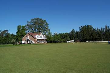 Stroll up the lane to watch a cricket match! A glorious way to spend a lazy afternoon.