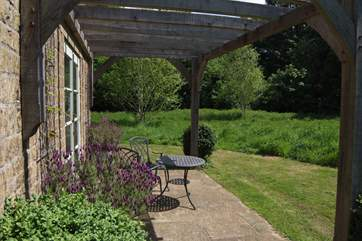 The patio is a delight - not overlooked and surrounded by the wildlife meadow.