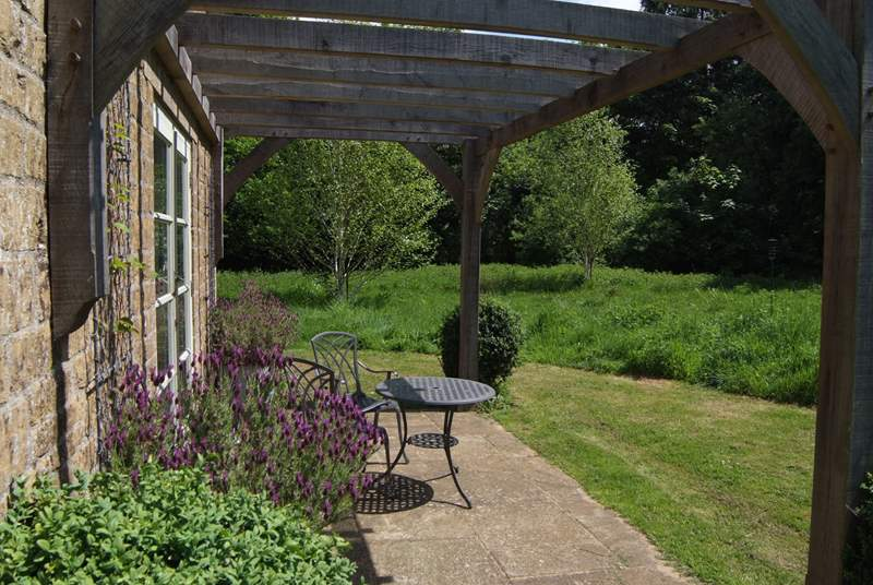 The patio is a delight - completely private and surrounded by the wildlife meadow.