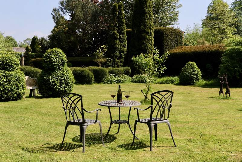 You have this wonderful garden, the meadow and the terrace directly outside the French windows all to yourselves.