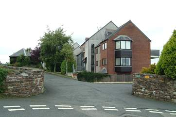 The entrance to Trevethan Court.