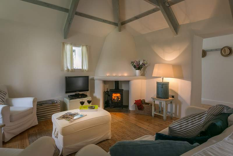The toasty wood-burner makes this a great cottage all year round.
