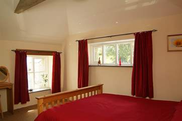 The large double bedroom is on the first floor.