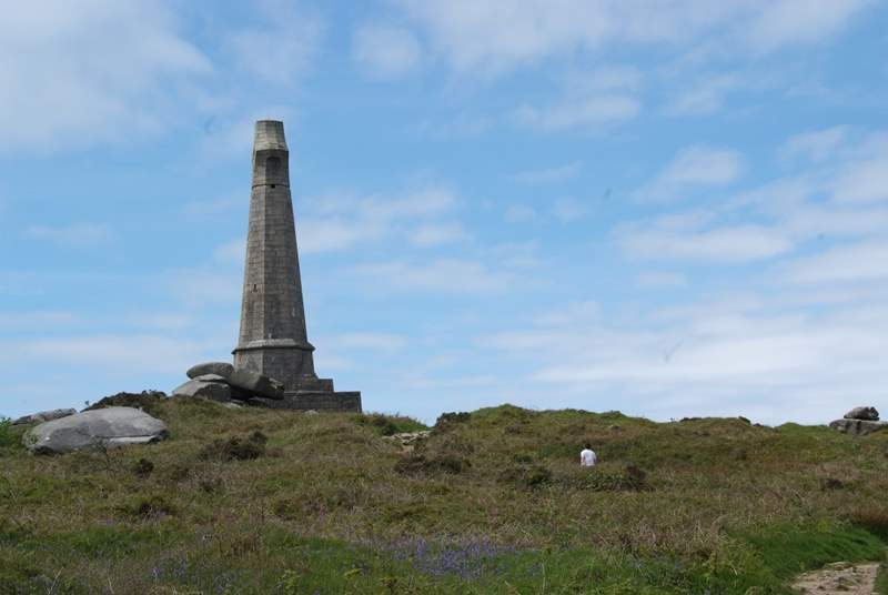 For walkers there are some real treats in this part of Cornwall including the monument at Carn Brea.