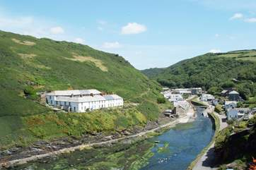 Boscastle harbour is just a walk down the hill from Jordan Vale.