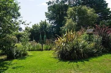 It's a pleasure to sit in the pretty garden.