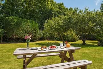 Enjoy afternoon tea in the gorgeous garden