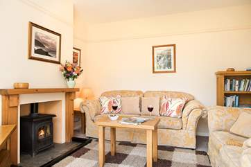 The toasty woodburner makes this a great retreat all year round