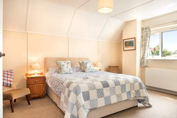 Bedroom Two is lovely and spacious and enjoys  views of the countryside and coastline