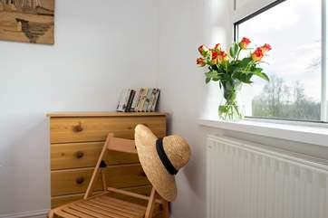 A pretty corner in the twin bedroom.
