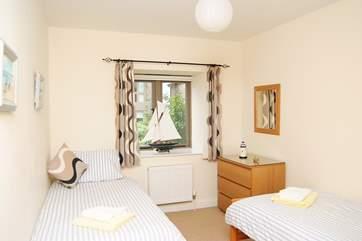 One of the twin bedrooms (Bedroom 2).