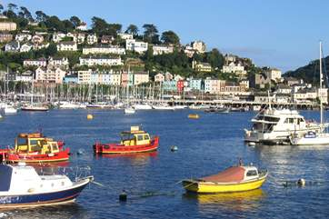 Boats on the river in Dartmouth, this photo is looking across to Kingswear.