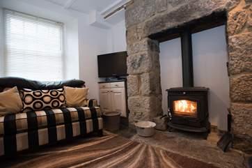 A roaring wood-burner to keep you warm.