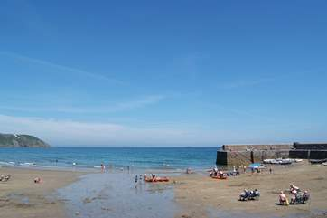 Gorran Haven is just a couple of miles from Netherway, a lovely family beach with plenty of sand as the tide drops back.