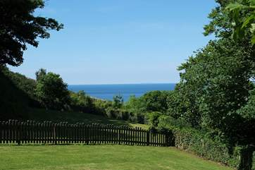 The view from the enclosed garden.